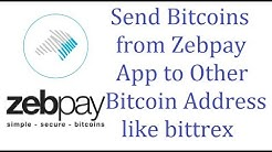 How to Send Bitcoins from Zebpay App to Other Wallet