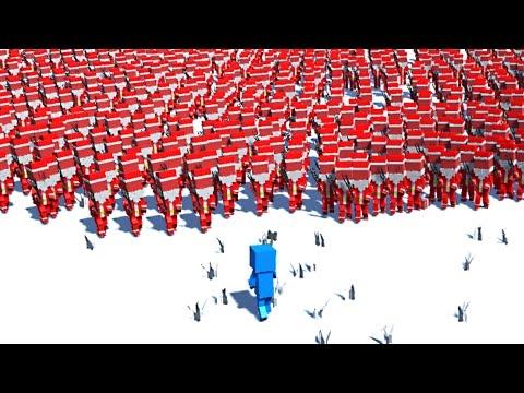 1000 SANTAS HORDE OF DEATH! (Ancient Warfare 2) |