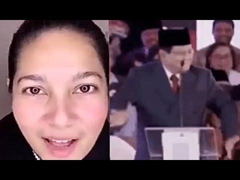 Tante cantik komentarin penampilan Prabowo di debat Pilpres. 'Masih pura2 begok', katanya