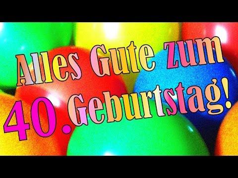 Geburtstagslied lustig deutsch 40. Geburtstagskarte Geburtstagsgruß Ständchen Happy birthday