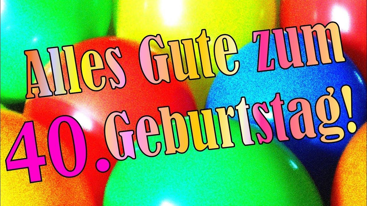 Geburtstagslied lustig deutsch 40. Geburtstagskarte Geburtstagsgruß Ständchen Happy birthday ...