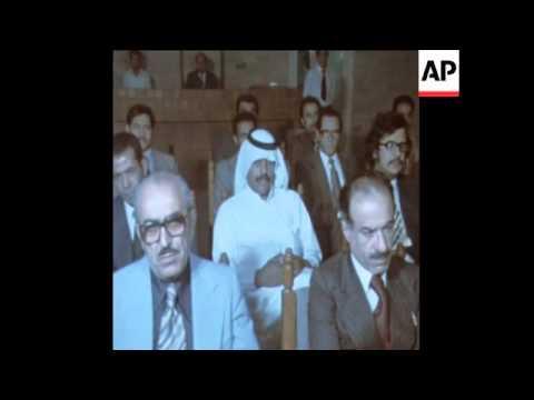 SYND 21 10 76 ARAB DELEGATES MEET IN BAGHDAD DISCUSS BOYCOTTS AGAINST ISRAEL