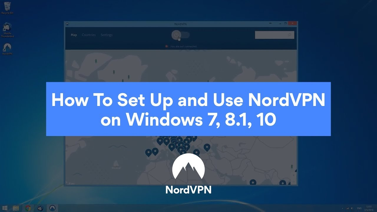 Installing and using NordVPN on Windows 7 and later versions