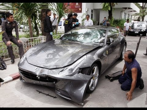 Ferrari Gives You Wings! Red Bull Heir Wrecks Car, Kills Cop (LinkAsia: 10/5/12)