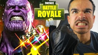 GEWONNEN mit THANOS in der KLEINSTEN ZONE DER WELT !! 🔥🔥🔥 Fortnite Battle Royale