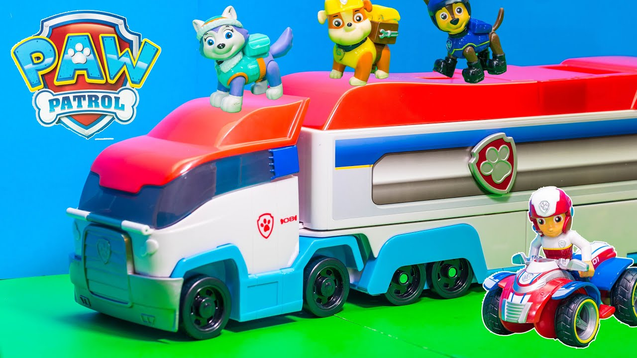 Unboxing the Paw Patroller Semi Truck with Rubble and Everest Toys