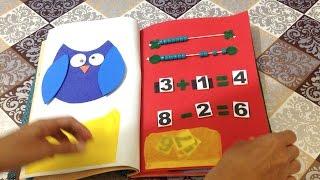 Como Fazer Livro Educativo Quiet Book em EVA e Feltro - DIY Artesanato
