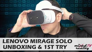 Lenovo Mirage Solo Unboxing & 1st Face-On Test - Why $200 More Expensive Than The Oculus Go?