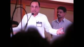 Subramanian swamy blasting Karunanidhi and JJ on Sanskrit week