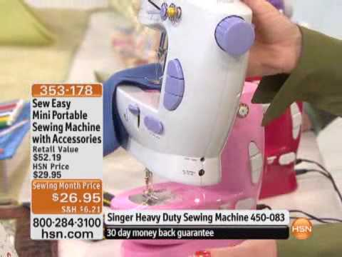 Sew Easy Mini Portable Sewing Machine With Accessories YouTube Mesmerizing How To Sew Using Sewing Machine
