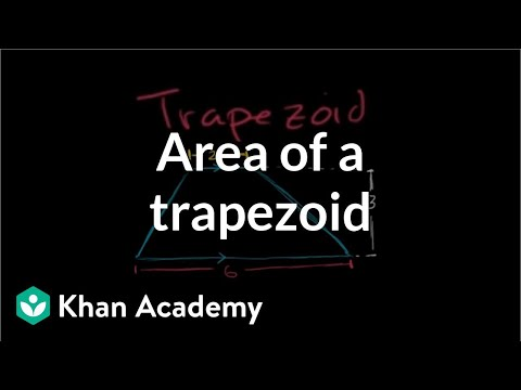Area of a trapezoid | Perimeter, area, and volume | Geometry