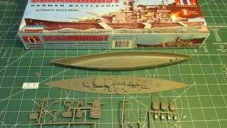"Lindberg SCHARNHORST Battleship Model Kit 1/762 scale, 12"" long. Su..."