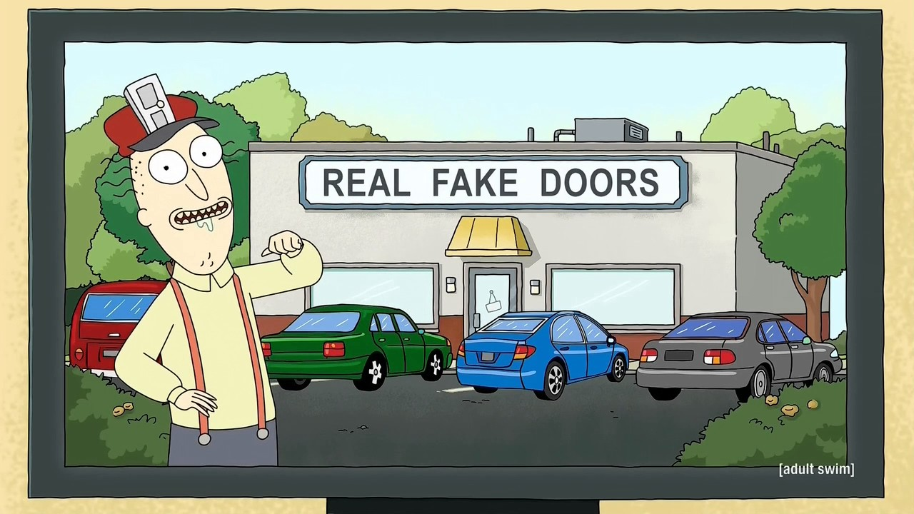 Rampage Jackson Breaks Fake Doors Rick And Morty Youtube