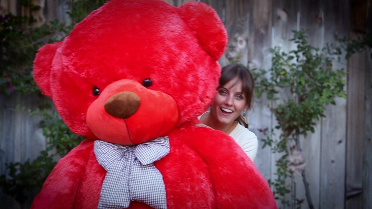 6 foot life size teddy bear lovey cuddles youtube