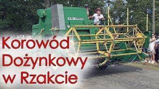 Dożynki Gminne w Rzakcie - korowód wozów konnych, traktorów i maszyn