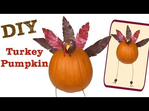 Turkey Pumpkin for Thanksgiving Craft