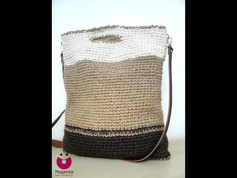 d43808ec75 εύκολη πλεκτή τσάντα - YouTube
