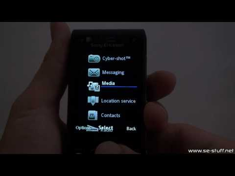 Media Style flash menu for A2 Sony Ericsson