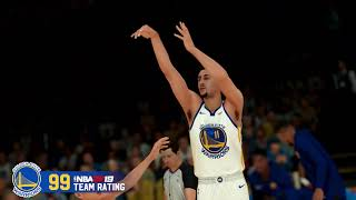 NBA 2K19 - Warriors Team Rating