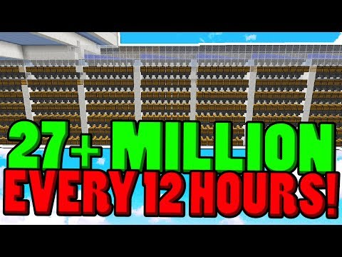 NEW FARM MAKES 27+ MiL EVERY 12 HOURS!! ( Minecraft Skyblock )