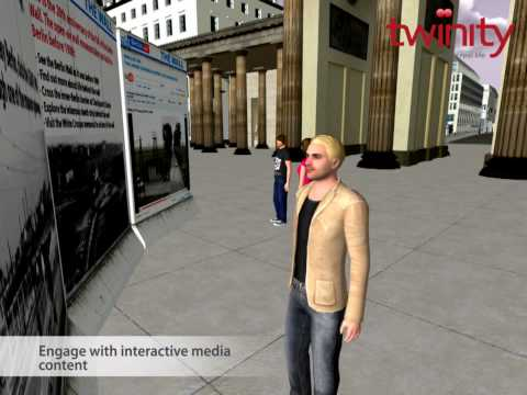 Twinity Virtuelles Mauer Museum / Virtual Wall Museum