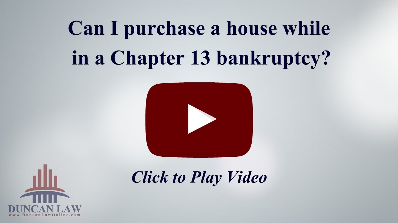 can i purchase a house while in a chapter 13 bankruptcy? - youtube