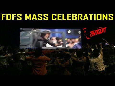 KAALA FDFS MASS CELEBRATIONS | Thalaivar Fans Reaction | Theater Response | Kaala Public Reaction
