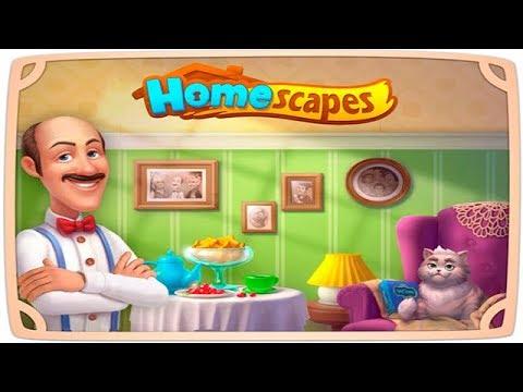 HomeScapes Дворецкий 2 уровни 8 14 Книжный Уголок для ПАПЫ Детское Видео Игровой Мультик