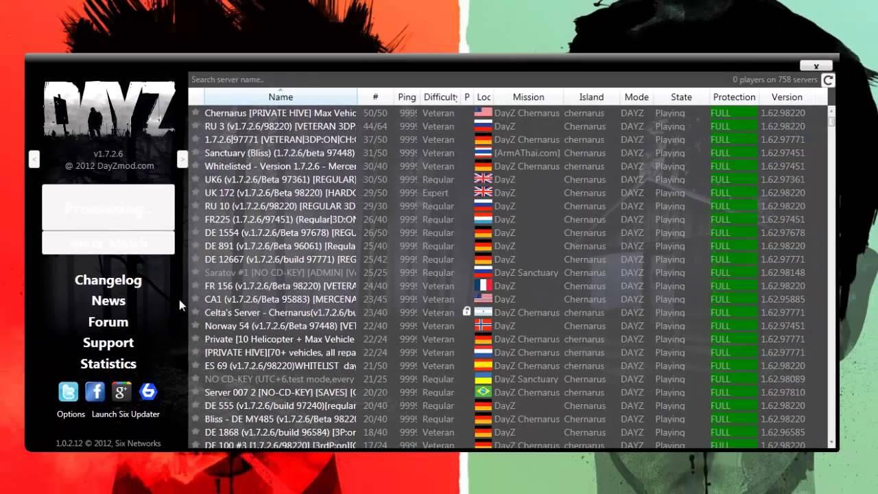 DayZ mit dem Six Launcher Starten/Installieren - YouTube  DayZ mit dem Si...