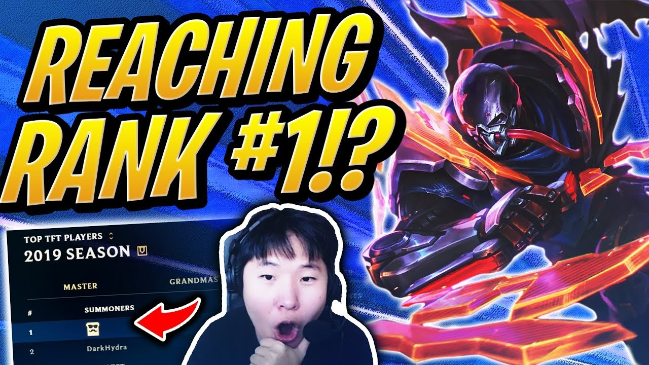REACHING THE #1 RANK IN TFT!? | Teamfight Tactics | League of Legends Auto Chess thumbnail