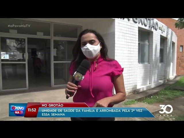 Unidade de Saúde da Família é arrombada pela 2ª vez essa semana, no Grotão- O Povo na TV