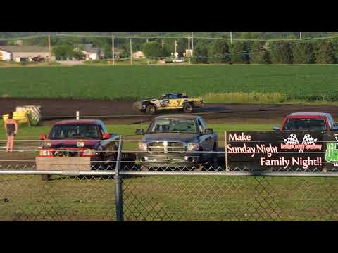 July 8, 2018 IMCA Hobby Stock Feature at Benton County Speedway