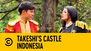 Captain Fero & His Assistant Attempt Stepping Stone | Takeshi's Castle Indonesia