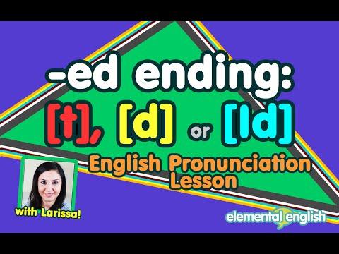 "[t], [d] or [Id]?   ""-ed"" Past Tense   English Pronunciation"