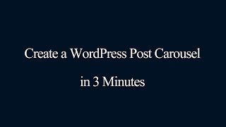 WordPress post carousel oluşturma