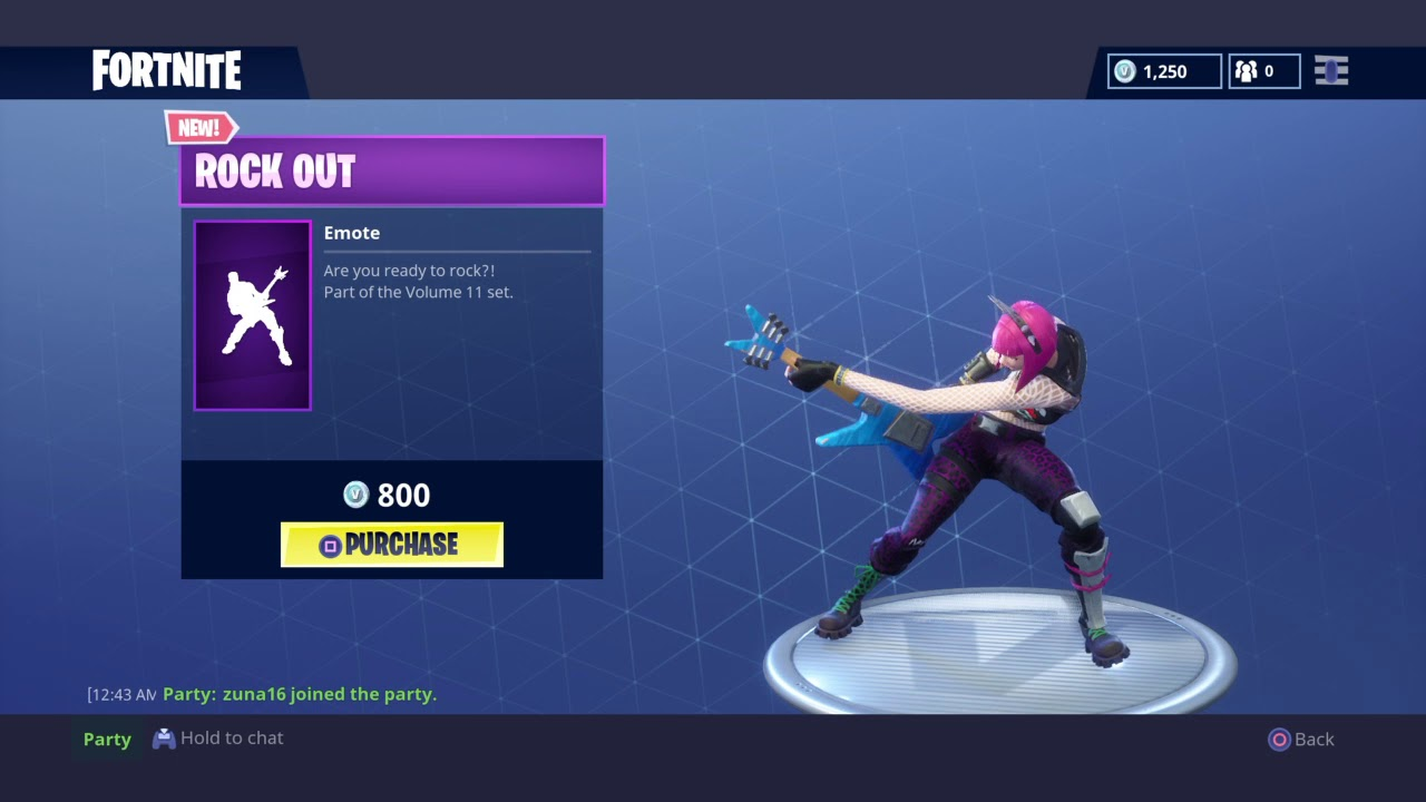 Rock out fortnite new emote youtube