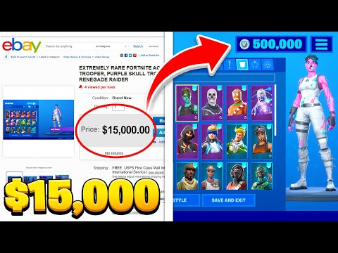 Top 10 EXPENSIVE Fortnite Accounts You CAN'T AFFORD!