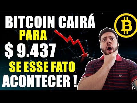 Bitcoin Cairá Para $ 9.437,00 Se Esse Fato Acontecer!