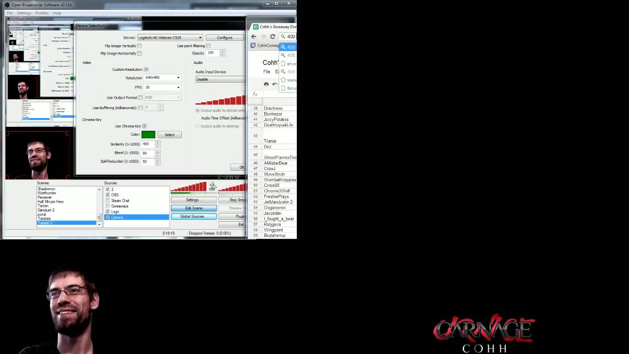 how to setup obs for streaming