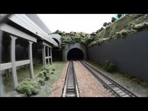 『鉄道模型ジオラマ・鈍行』2番線車載カメラ動画
