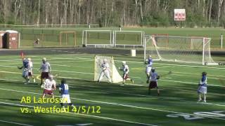 Acton Boxborough Varsity Lacrosse @ Westford Apr 2012