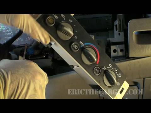 1999 Tahoe HVAC Head Unit Replacement - EricTheCarGuy on