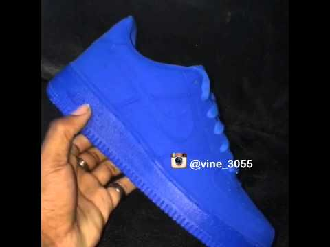 Nike Customized Air Force Ones Matte Blue Youtube