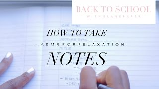 how to take notes asmr   back to school with b l a n k p a p e r