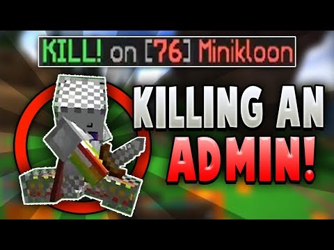 Killing an ADMIN in Hypixel's 'THE PIT!' (NEW GAMEMODE)