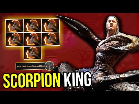 SCORPION KING - 7x Battle Fury Sand King Carry Build 100% Cleave 7.12 Dota 2 | Upside Down 92