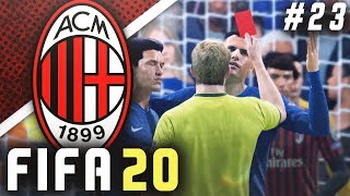 RED CARD DRAMA IN THE CHAMPIONS LEAGUE!! - FIFA 20 AC Milan Career Mode EP23