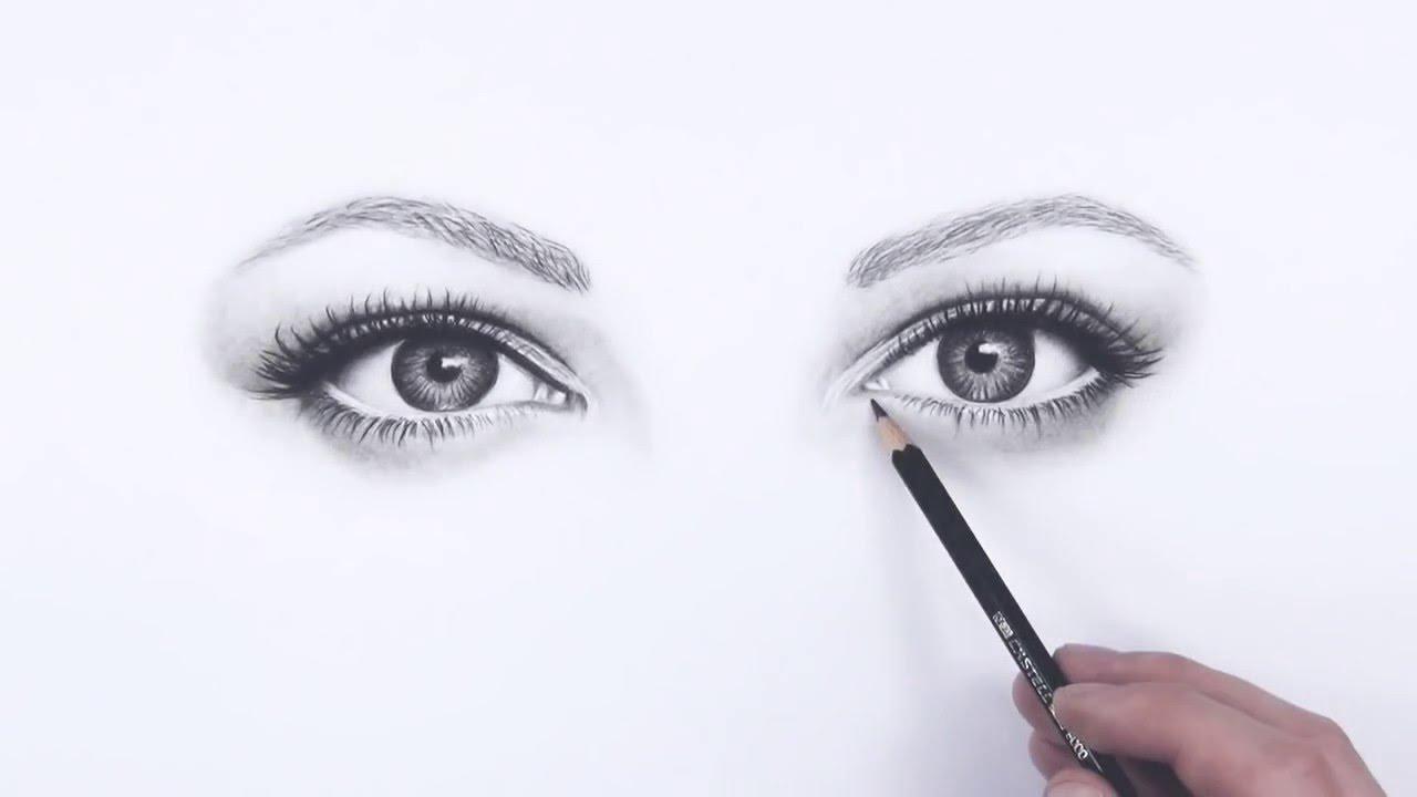 Realistische Augen Zeichnen Promovideo Youtube