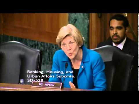 """Elizabeth Warren - """"Too Big To Fail"""" Means Another Taxpayer Bailout of Wall Street"""
