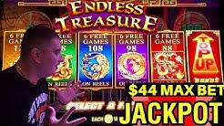OMG ✦2 HANDPAY JACKPOTS✦! Endless Treasure Slot Machine & Lock It Link Slot Machine Max Bet JACKPOTS